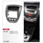 Переходная рамка CARAV 11-167 (Citroen C1 2005+ / Toyota Aygo 2005+ / Peugeot (107) 2005+ )
