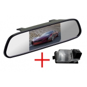 Зеркало + камера для Nissan Tiida hatchback, Patrol, Livina, Cube, Skyline, GT-R, 350Z, 370Z / Infinity G35, G37