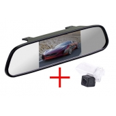 Зеркало + камера для Toyota Camry 11+, Corolla 12+, Auris 12+, Avensis 08+, Verso 07-09 / Citroen Berlingo C4 DS4 / Peugeot 206, 207, 307, 407