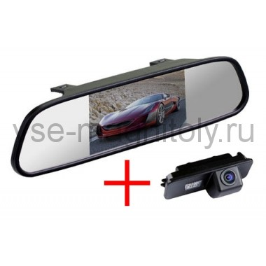 Зеркало + камера для Volkswagen Polo, Golf 7, Passat (05-10)
