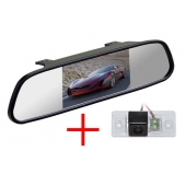 Зеркало + камера для Volkswagen Tiguan (07+), Touareg (02-11) / Skoda Fabia (07+), Yeti (09+) / Porsche Cayenne до 2011