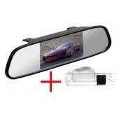 Зеркало + камера для Renault Logan (08+), Sandero (09+) / Nissan Micra, March