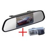 Зеркало + камера для Toyota LC-100 (03-07), LC-200 (12+), Prado 120 (02-09) с запаской под днищем